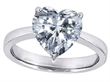 Original Star K Large Heart Shape Solitaire Engagement Ring with Genuine White Topaz