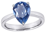 Original Star K™ Large 11x8 Pear Shape Solitaire Ring with Simulated Aquamarine style: 303795