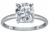 Tommaso Design™ Zoe R™ Genuine White Topaz 7mm Cushion Cut Solitaire Engagement Ring style: 303858