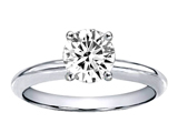 Tommaso Design™ Genuine White Topaz Round 7mm Solitaire Engagement Ring