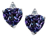 Original Star K Heart Shape 7mm Simulated Alexandrite Earrings