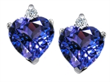 Original Star K Simulated Heart Shape Tanzanite Earrings
