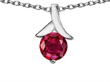 Original Star K™ Round 7mm Pendant with Created Ruby