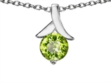 Original Star K™ Round Pendant with Genuine Peridot