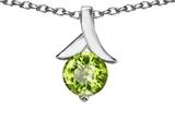 Original Star K™ Round Pendant with Genuine Peridot style: 304069
