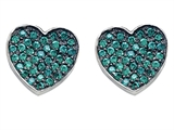 Star K™ Heart Shape Love Earrings with Simulated Emerald style: 304159