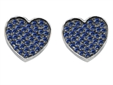 Star K™ Heart Shape Love Earrings with Created Sapphire style: 304162