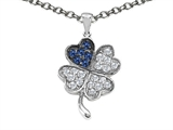 Star K™ Lucky Clover Pendant Necklace With Created Sapphire style: 304180