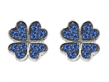 Celtic Love by Kelly Small Lucky Clover Earrings with Lab Created Sapphire