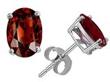 Original Star K™ Classic Oval 7x5mm Earrings Studs with Genuine Garnet style: 304335