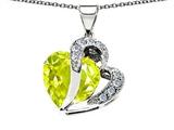 Original Star K™ Heart Shape 12mm Simulated Lemon Quartz Pendant style: 304366