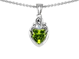 Original Star K™ Loving Mother With Children Pendant With Genuine Heart Shape Peridot style: 304870