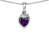 Original Star K™ Loving Mother With Children Pendant With Heart Shape Genuine Amethyst style: 304871