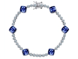 Original Star K™ Classic Cushion Cut 7mm Created Sapphire Tennis Bracelet style: 304900