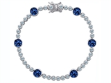 Original Star K Classic Round 6mm Lab Created Sapphire Tennis Bracelet