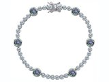 Original Star K Classic Round 6mm Genuine Mystic Topaz Tennis Bracelet