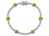 Original Star K™ Classic Round 6mm Genuine Peridot Tennis Bracelet style: 304921