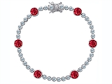 Original Star K Classic Round 6mm Lab Created Ruby Tennis Bracelet