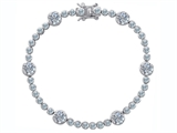 Original Star K™ Classic Round Genuine White Topaz Tennis Bracelet In