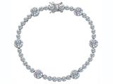 Original Star K™ Classic Round Genuine White Topaz Tennis Bracelet In style: 304929