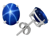 Original Star K™ Oval 8x6mm Created Star Sapphire Earring Studs