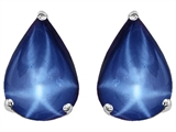 Original Star K Pear Shape 9x7mm Created Star Sapphire Earring Studs