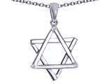 Tommaso Design™ Genuine Jewish Star of David Pendant by Devorah. style: 305045