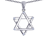Tommaso Design™ Genuine Jewish Star of David Pendant by Devorah. style: 305046