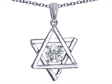 Tommaso Design™ Genuine Jewish Star of David Pendant by Devorah. style: 305048