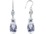 Original Star K™ Briolette Drop Cut Cubic Zirconia Hanging Hook Chandelier Earrings