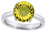 Original Star K™ Large Solitaire Big Stone Ring with 10mm Round Simulated Citrine