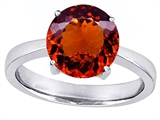 Original Star K™ Large Solitaire Big Stone Ring With 10mm Round Simulated Garnet