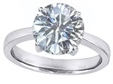 Original Star K™ Large Solitaire Big Stone Ring With 10mm Round White Topaz style: 305091