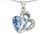 Original Star K Heart Shape 12mm Simulated Aquamarine Pendant
