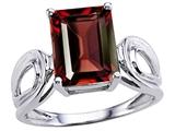 Original Star K™ Large Emerald Cut 10x8mm Genuine Garnet Solitaire Ring style: 305364