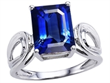 Original Star K™ Large Emerald Cut 10x8mm Created Sapphire Solitaire Ring