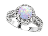 Original Star K™ 7mm Round Created Opal Engagement Ring style: 305392