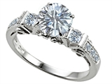 Original Star K™ Classic 3 Stone Engagement Ring With Round 7mm Genuine White Topaz