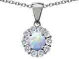 Original Star K™ Round 6mm Created Opal Pendant