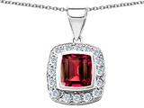 Original Star K™ Square Cushion Cut Created Ruby Pendant style: 305534