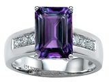 Star K™ Classic Octagon Emerald Cut 9x7 Ring With Simulated Alexandrite style: 305544