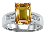 Star K™ Classic Octagon Emerald Cut 9x7 Ring With Simulated Citrine style: 305546