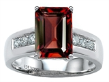 Star K™ Classic Octagon Emerald Cut 9x7 Ring With Simulated Garnet style: 305547