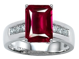 Original Star K™ Classic Octagon Emerald Cut 9x7 Engagement Ring With Created Ruby