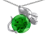 Original Star K™ Mouse Pendant With Round Simulated Emerald style: 305589