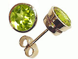 Tommaso Design Round Genuine Peridot Earrings