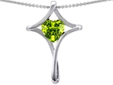 Original Star K™ Large Christian Cross Of Love Pendant With Heart Genuine Peridot