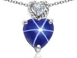 Original Star K™ 8mm Heart Shape Created Star Sapphire Pendant style: 305680