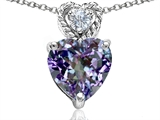 Original Star K 8mm Heart Shape Simulated Alexandrite Pendant