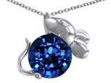 Original Star K Mouse Pendant With Round 8mm Created Sapphire